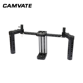 """CAMVATE Compact Monitor Cage Rig With Adjustable Cheese Handgrip Ideal For 7"""" LCD Monitor  C2048"""
