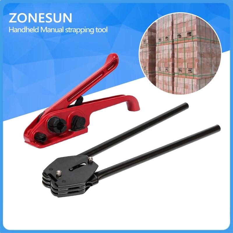 ZONESUN Handheld Manual strapping tool, strap sealer and tensioner