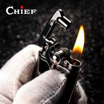 Chief Lighter Gasoline Kerosene Flint Petrol Vintage Cigarette Lighter Oil Petrol Refillable - DISCOUNT ITEM  46% OFF All Category