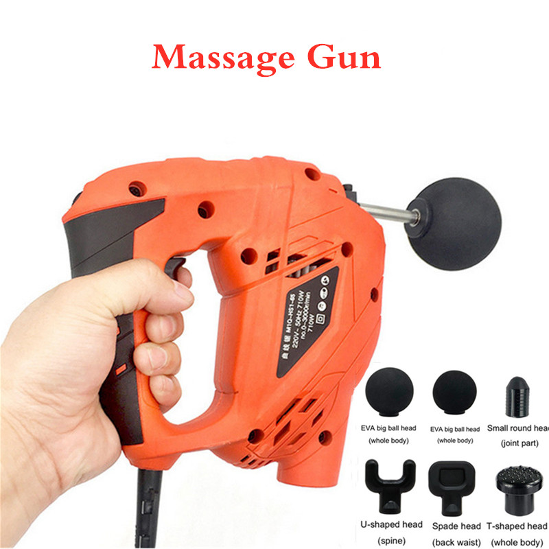 Training Exercising Body Relaxation electric Muscle Massage Gun  High Frequency Vibrating Muscle Relief Pain 6 HeadsTraining Exercising Body Relaxation electric Muscle Massage Gun  High Frequency Vibrating Muscle Relief Pain 6 Heads