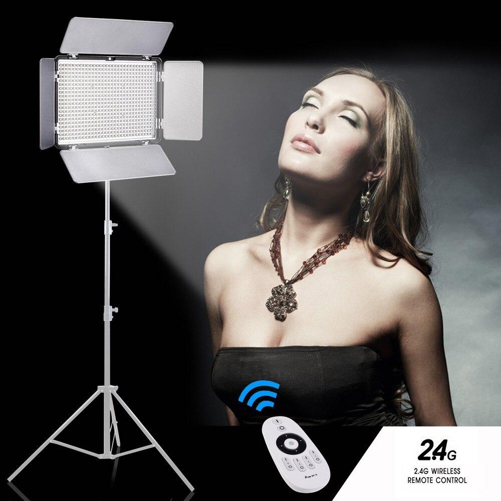 Travor 600pcs Bi-Color Led Video Light 3200K ~ 5500K 2.4G-vel a - Kamera és fotó