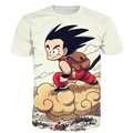 Cute Kid Goku Fly Prints tshirts tees Men Women Funny Anime t shirts Classic Dragon Ball Z Super Saiyan 3D t shirt Harajuku Tee
