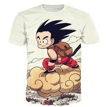 Cute Kid Goku Fly Prints Men Women T-shirts