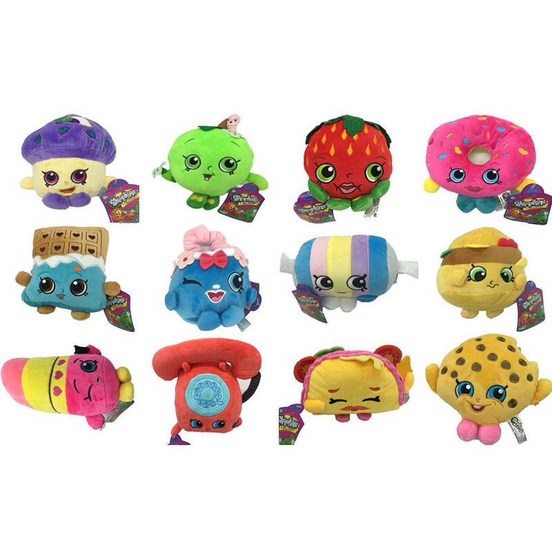 12 Styles Fruit Plush Toys Doll Strawberry Apple Cookies Donuts Lipstick Chocolate Muffin Plush Stuffed Toys For Girls Kids Gift