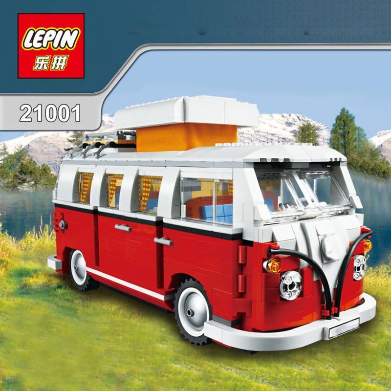 ФОТО Volkswagen T1 Camper Van Set Building Bricks Blocks Toy Gift Lepin Creator City 10220 LEPIN