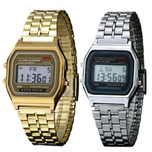Men Women Wristwatch LED Waterproof Quartz Dress Golden Sports Watches