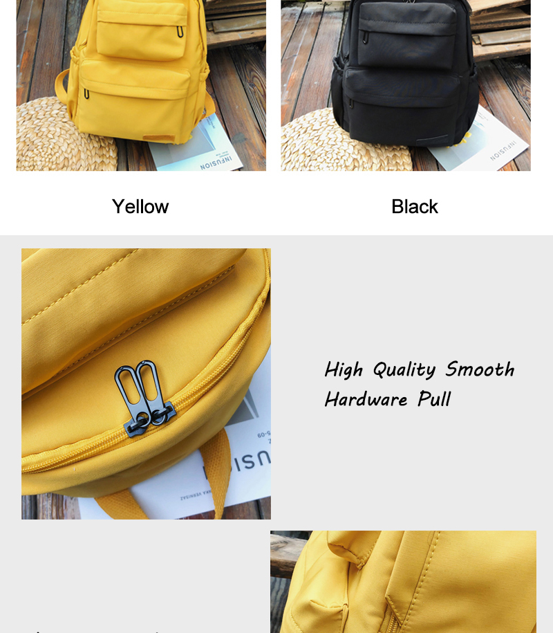 HTB1O15QdnZmx1VjSZFGq6yx2XXaK - Waterproof Nylon Backpack for Women Multi Pocket Travel Backpacks Female School Bag for Teenage Mochilas
