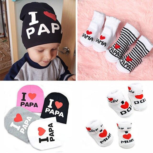 37245331e 2019 Cute Love Papa Mama Baby Socks Girls Boys Baby Sokken Soft Anti ...