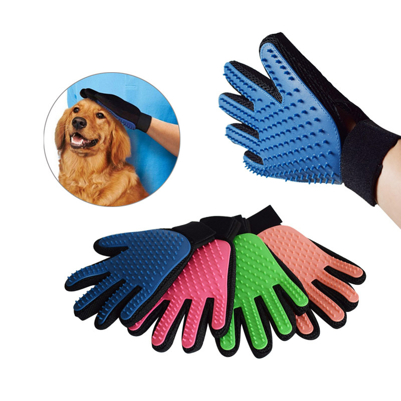 True Touch Dog Cleaning Bath Brush Magic Glove Pet Cat Massage Mitt Hair Fur Removal Grooming Pet Bath Product 3