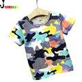 2016 Nova Verão Do Bebê t-shirt Meninos Meninas Crianças T camisas dos miúdos Roupas t-shirt Crianças Tops de Manga Curta Camisas Dos Miúdos