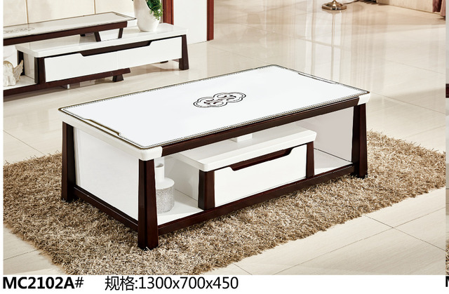 Charmant MC2102A Modern Living Room Furniture Glass Top Tea Table Coffee Table With  Drawer
