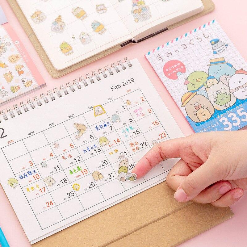 335 Pcs/pack Sumikko Gurashi Book Kawaii Cute Sticker Custom Stickers Diary Stationary Flakes Scrapbook DIY Decorative Stickers