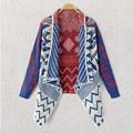 Бренд осень зима геометрический узор женщин трикотажные пальто свитер дамы Cardiga feminino одежда плечами пончо трикотаж JY-551