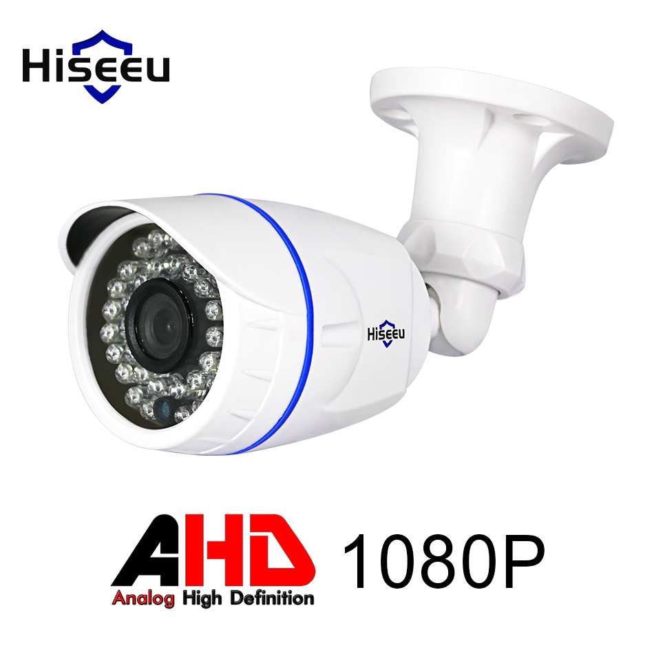 Hiseeu ABS Case AHD Analog High Definition Camera AHDH 1080P AHD CCTV Camera Security Outdoor