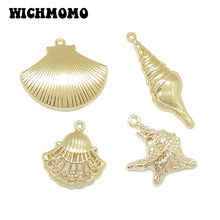 2019 New Fashion 5pieces/bag High Quality Zinc Alloy Conch Shells Charms Pendants DIY Necklaces Earring Jewelry Accessories