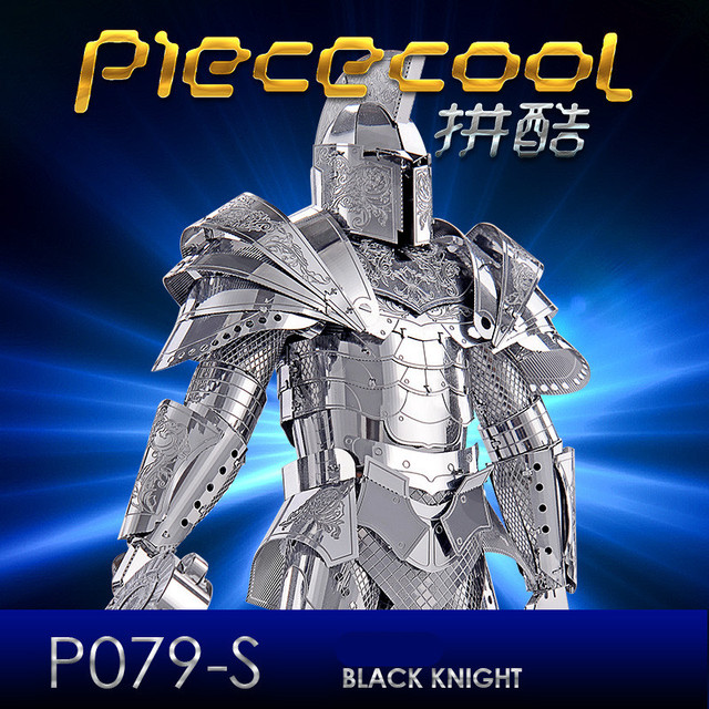 ICONX 2017 Piececool 3D Puzzle Metal Toys, P079S Black Knight DIY Puzzle 3D Metal Assembly Model, Heroes Puzzle Toy For Adult