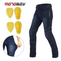 Free shipping 1pcs Men's Motorbike Motorcycle Biker Trousers Pants Jeans Removable Protective Motorcycle Pants With 4pcs Pads