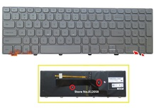 SSEA New Laptop US Keyboard Silver For DELL Inspiron 15 7000 Series 15 7537 Backlit Keyboard(China)