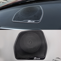 Car Styling Left Drive Dashboard Speaker Cover Trim Sticker For Mercedes Benz C Class W205 C180 C200 C260 2015 2016 GLC Class