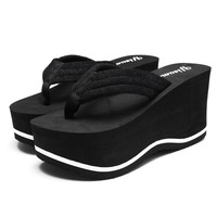 2016 Summer Woman Sandals Slippers Non Slip Thick Soled Wedges Flip Flops Shoes Woman Slippers Sandalias