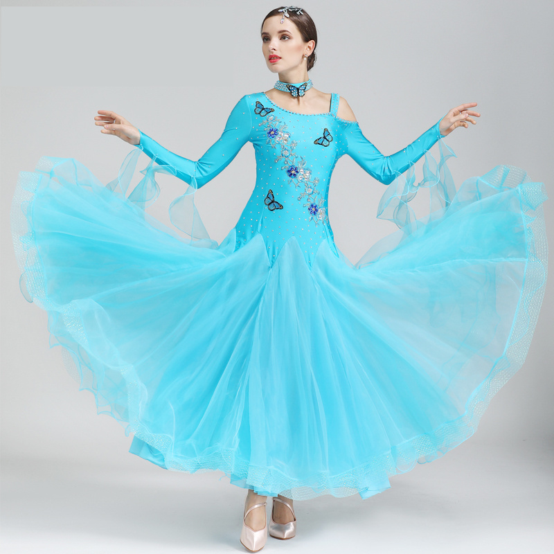 2018 New Arrival Modern Dance Suit Female Ballroom Dance Skirt Adult Tango Waltz Ballroom Dancing Costume Waltz Tango skirt