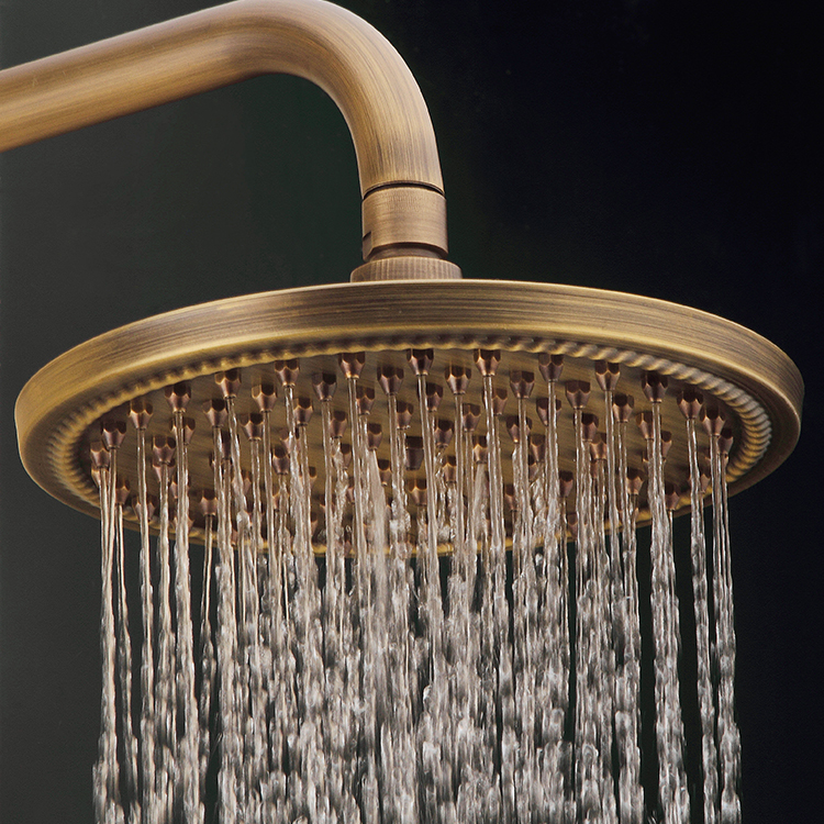 Newly Dual Carved Pattern Handles Vintage Shower Set Faucet Rain ...