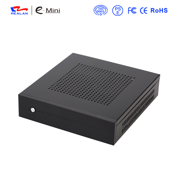 купить Realan SECC Mini ITX Case E-T3 Slim HTPC Desktop Computer with WallMount Bracket & VESA free shipping по цене 2419.24 рублей