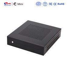Realan SECC Mini-itx-gehäuse E-T3 Dünne HTPC Desktop-Computer mit Wandbefestigung Halterung & VESA kostenloser versand