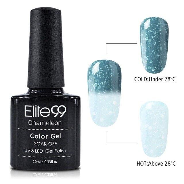 Elite99 Neue Ankunft 10 ml Snowy Thermische Chameleon Temperatur Ändern Stimmung Farbe Gel Polnischen DIY Nail art UV Gel Polish