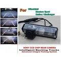 Для Mitsubishi Montero Sport/Nativa/Challenger Умные Треков Чип Камеры HD CCD Интеллектуальная Динамическая Камера Заднего вида