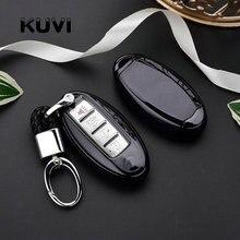 TPU+PC Car Remote Key Cover Case key chain For Nissan For Infiniti Q50 FX35 FX FX37 G37 G35 Car Key Shell Bag Keyring Keychain