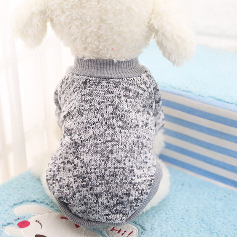 Sweater for Pets Grey Color Classic Pet Dog Puppy Woolen Clothes Fleece Warm Winter Costume Ropa Para Perros #5314