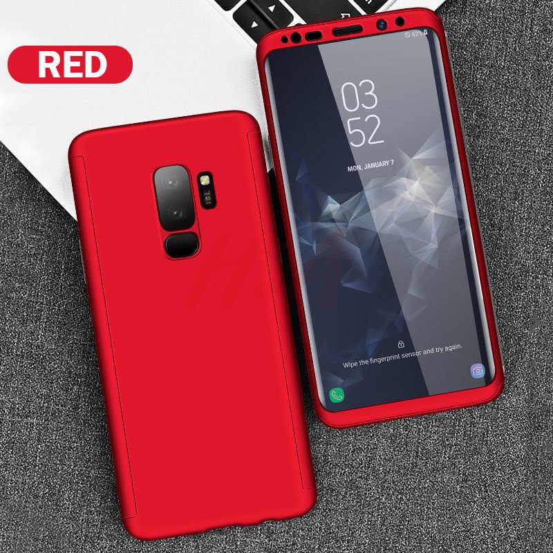 H & A فاخر 360 غطاء كامل الهاتف حقيبة لهاتف سامسونج غالاكسي S10 S9 S8 زائد S7 حافة نوت 9 8 صدمات غطاء S10 لايت Fundas كابا