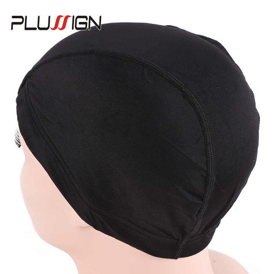e5c8ded1e93 Wholesale 5Pcs Lot Cheap Dome Cap Black Wig Cap For Wig Making Spandex Dome  Caps Glueless Elastic Caps Silk Weaving-in Hairnets from Hair Extensions    Wigs ...