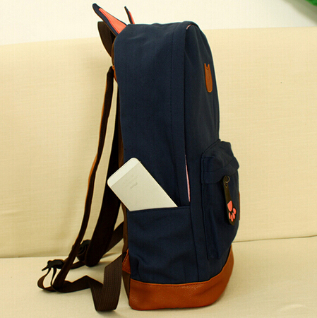 b265d99c273e 2016 hot selling girls cat ears backpack Campus young women travel bag men  canvas backpack fashion school of brand bags-in Backpacks from Luggage    Bags on ...