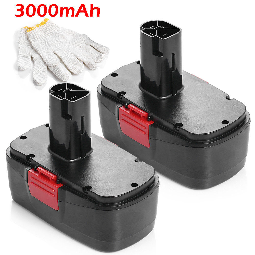 2pcs Powerextra Ni-CD Battery 19.2v 3000mAh Replacement Battery For Craftsman Tools Cordless Drill 130279005 11541 11375 101262pcs Powerextra Ni-CD Battery 19.2v 3000mAh Replacement Battery For Craftsman Tools Cordless Drill 130279005 11541 11375 10126