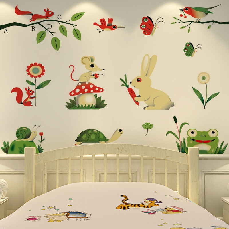 Картинки животных для спальни в детском саду
