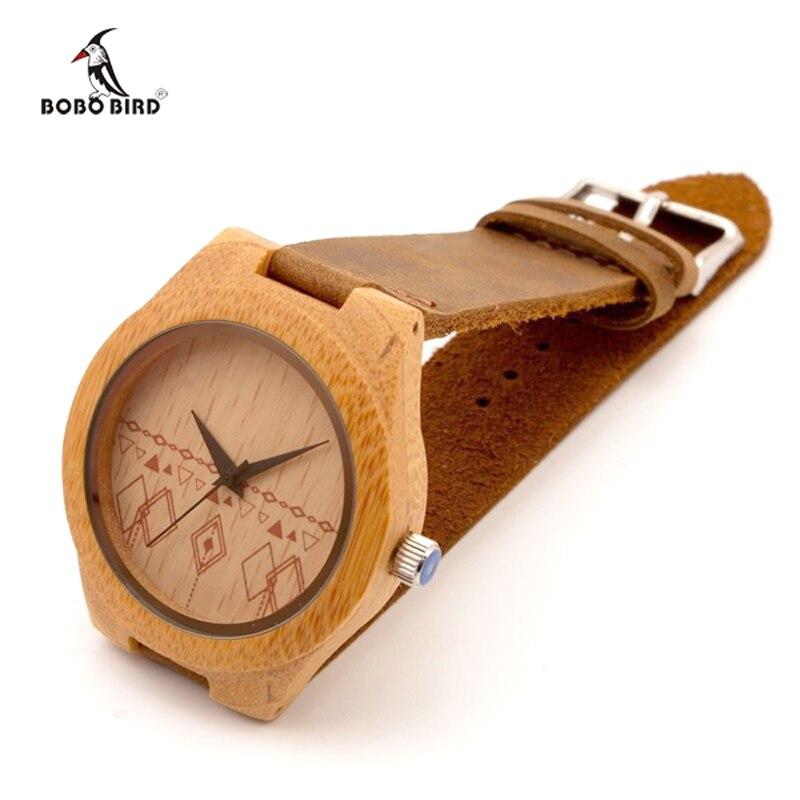 BOBO BIRD Bracelet Women Wooden Watch Ladies Quartz Bamboo Watch Women Wristwatch Relogio Feminino Montre Femme