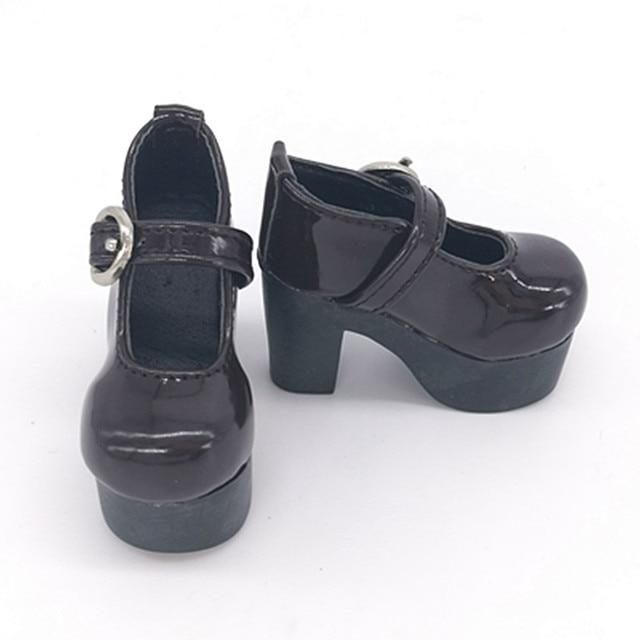 Zapatos Tacones 6 Bjd Pu Muñeca Gruesos Cuero De Cm Punks xqqgH4I