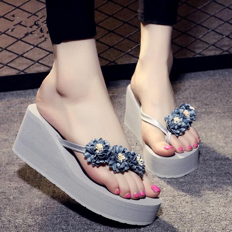 Women Outdoor Slippers Beach Flip Flops Soft EVA Summer Platform Shoes Woman Fashion Slides Ladies Wedges Sandals SH032601