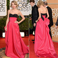 T. Swift Golden Globes 2014 Sweetheart Red Carpet Inspired Long Celebrity Event Dress Women Gown Free Shipping CD063