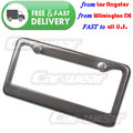 100% REAL Black Carbon Fiber Custom License Plate Tag Snap Fit Frame for Auto-Car-Truck B#