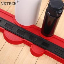 20 بوصة حلايا جوانب بلاستيك نسخة مقياس كفاف مقياس الناسخ البلاط الخشب وسم أداة بلاط صفح أداة الطابق أداة قياس