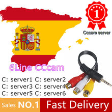 1 Year CCcams Europe Cline Card sharingServer Mgcam Oscam Cline for VU+ Samsat Starsat Satellite TV Receiver via usb wifi(China)