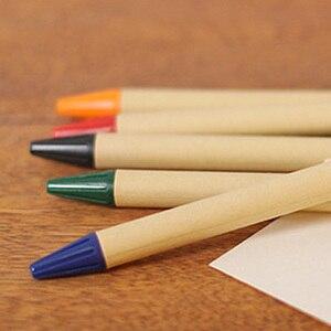 Image 3 - Caneta de madeira, lote 50 peças de caneta de esfera de papel eco, conceito verde, amigável, logotipo personalizado de promoção