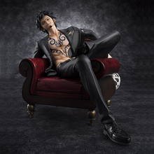 ONE PIECE Trafalgar Law Trafalgar D Water Law Sitting Posture Sofa Chair Model Toys