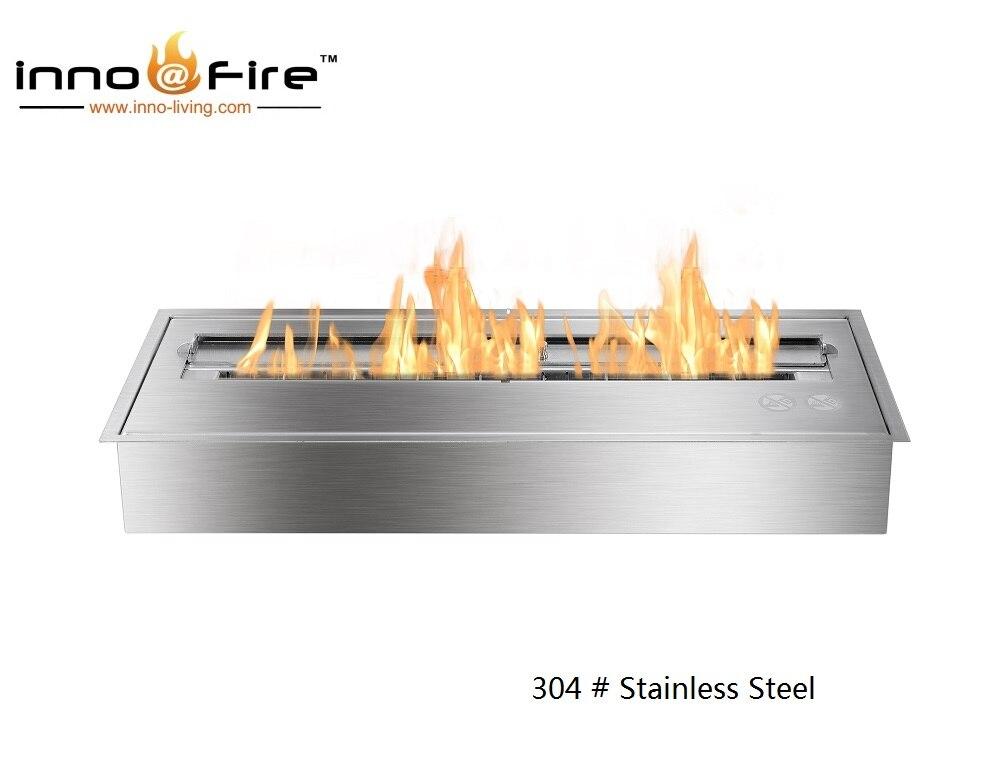Inno Living Fire 24 Inch Bio Ethanol Insert Gel Fuel Fireplace Insert