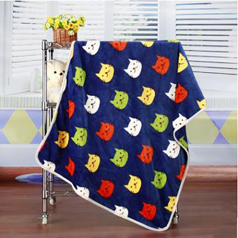 SummitKids New Baby Blanket Barn Varm Fleece Blankett På Säng Mjuk Plaid Kasta Blanket Animal Baby Swaddle Blanket