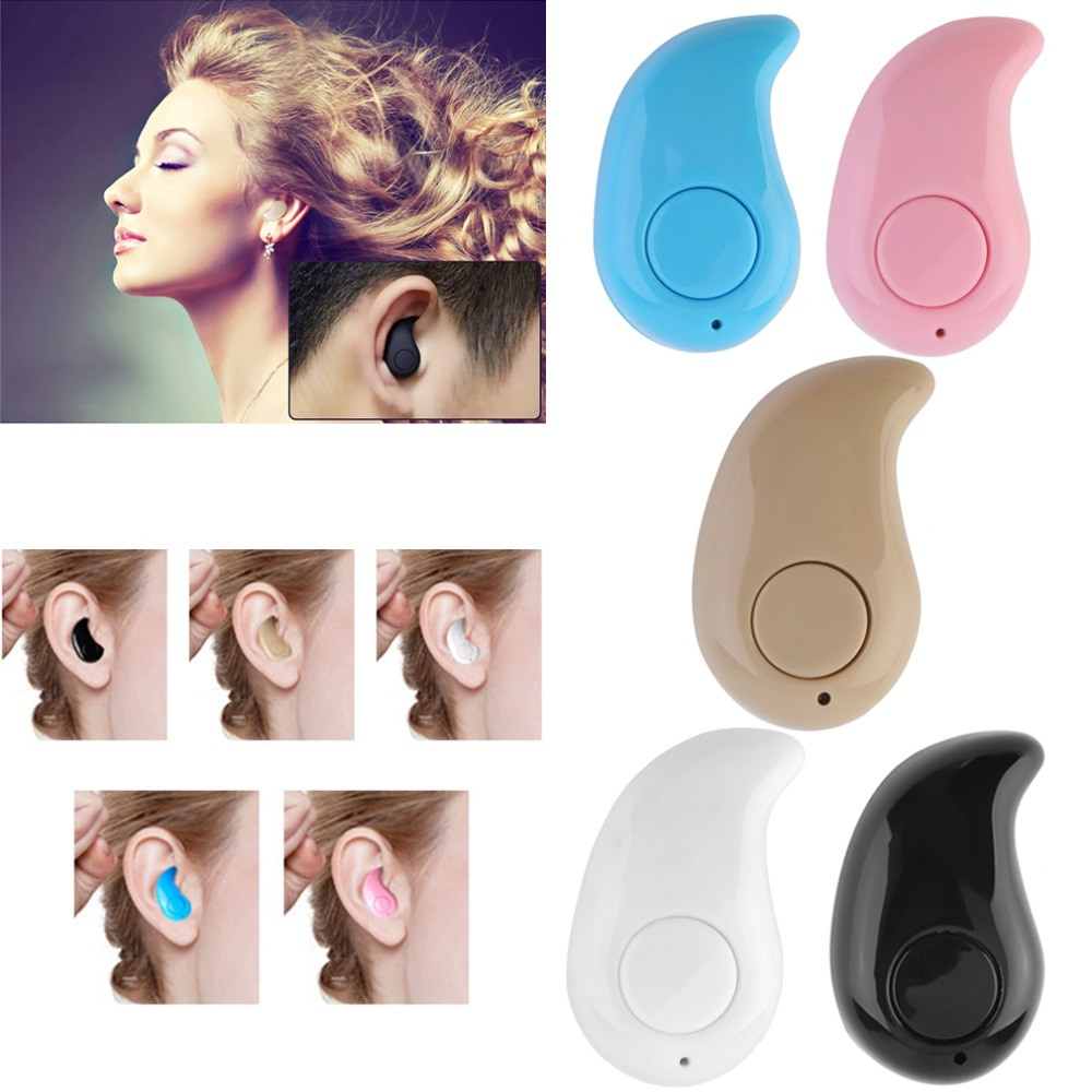 Unisex Mini Bluetooth Earphone Wireless Music Sports Stereo In-Ear Headset Earpiece Earbuds Universal For iPhone Android Phones