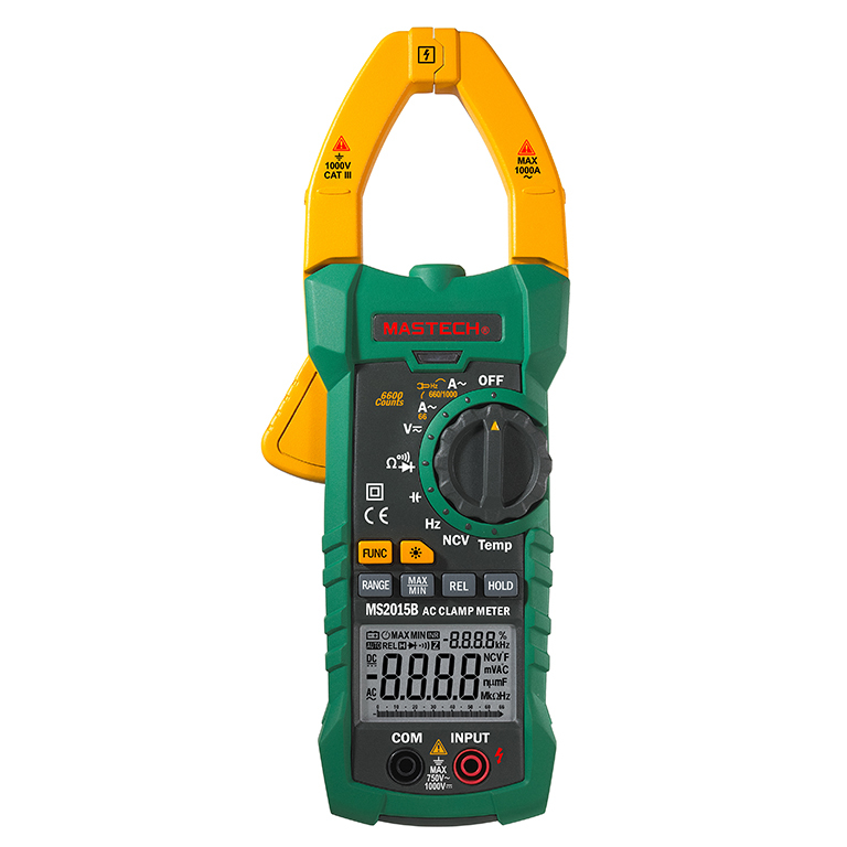Mastech MS2015B Digital Clamp On Meter Meters Frequency Resistance Capacitance Multimeter mastech my63 digital multimeter dmm w capacitance frequency